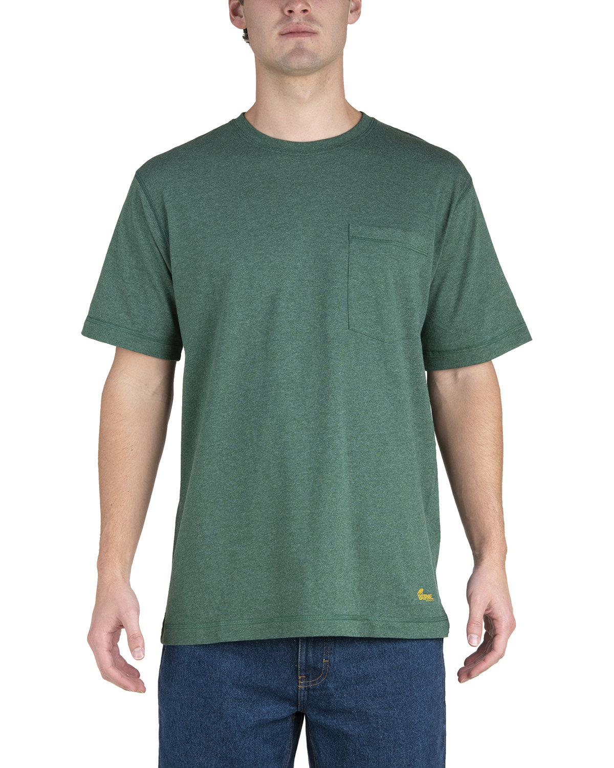 Berne Men's Lightweight Performance Pocket T-Shirt PINE