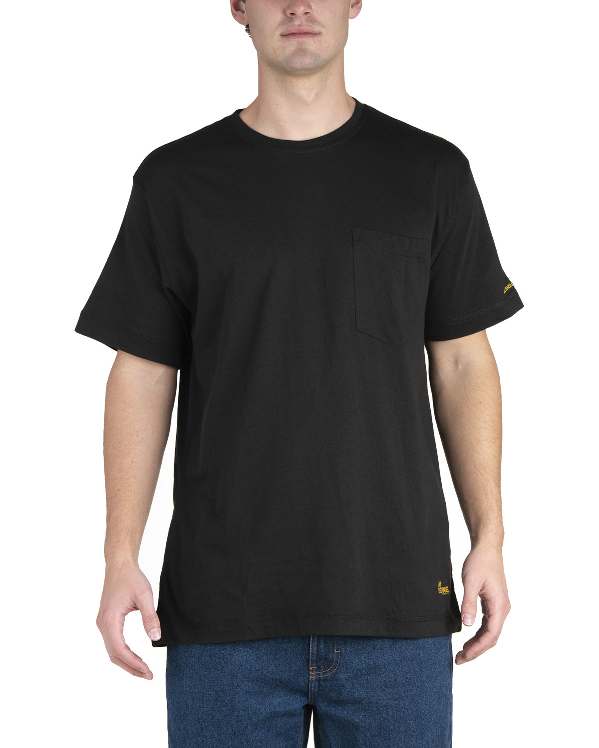Berne Men's Lightweight Performance Pocket T-Shirt BLACK