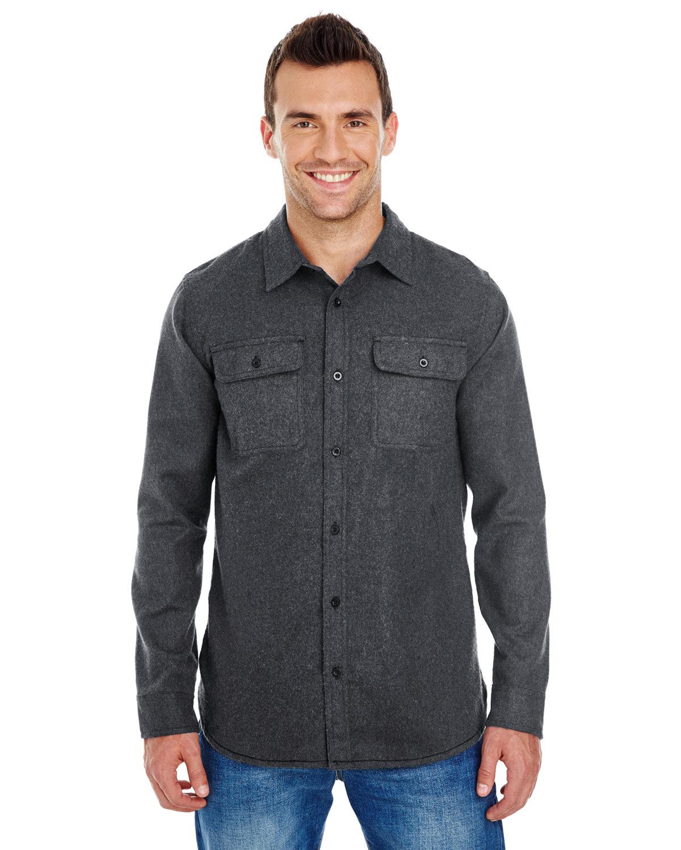 Burnside Men's Solid Flannel Shirt CHARCOAL