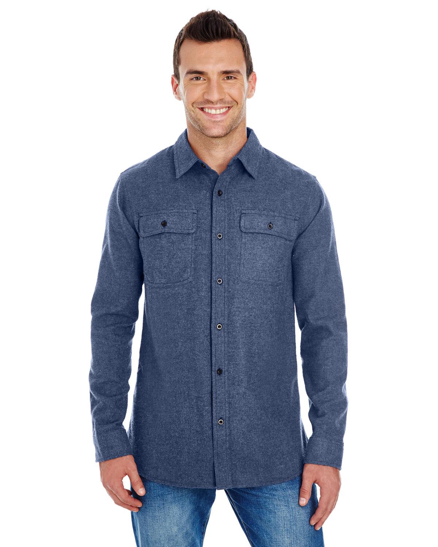 Burnside Men's Solid Flannel Shirt DENIM