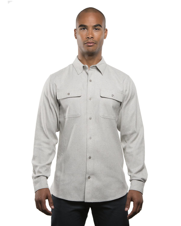 Burnside Men's Solid Flannel Shirt STONE