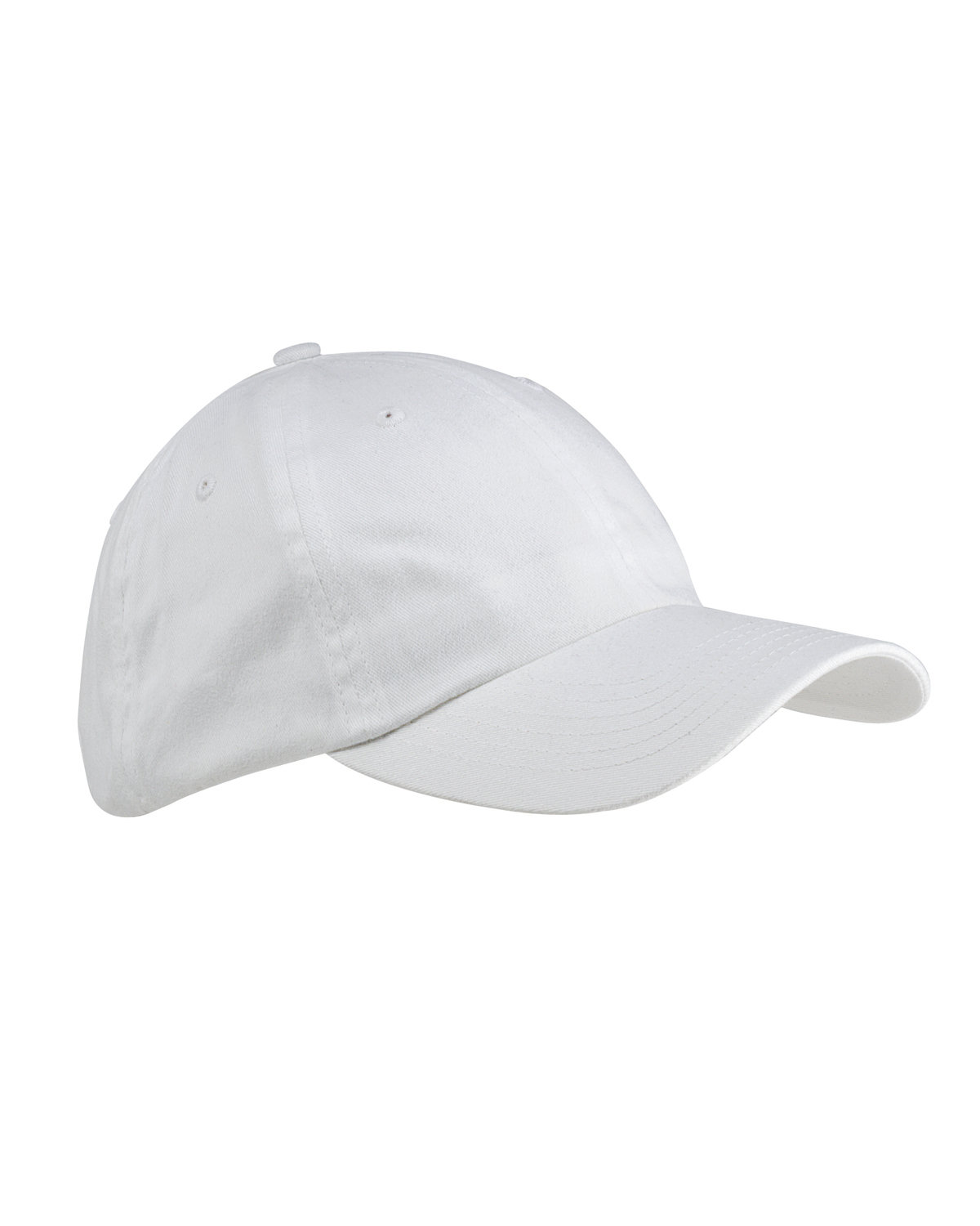 Big Accessories 6-Panel Brushed Twill Unstructured Cap WHITE