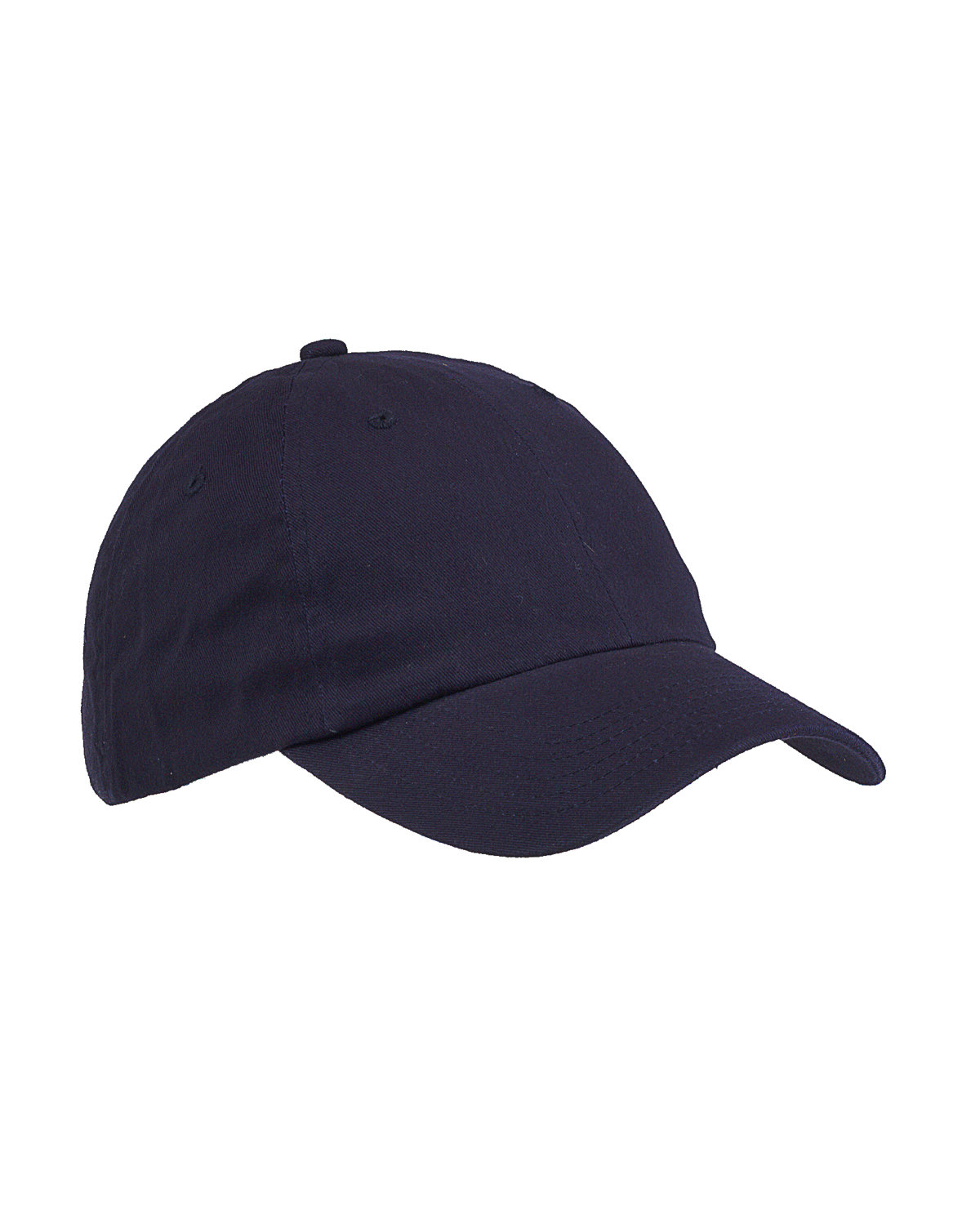 Big Accessories 6-Panel Brushed Twill Unstructured Cap NAVY