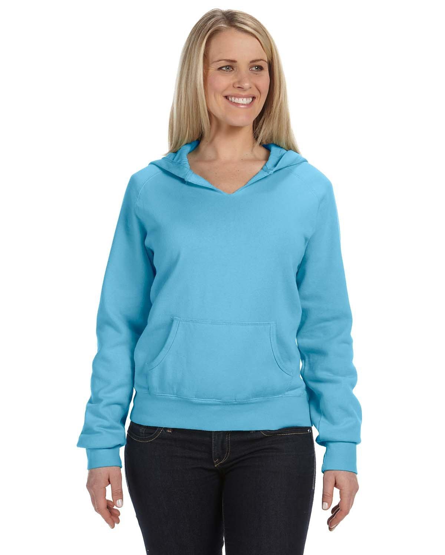 Comfort Colors Ladies' Hooded Sweatshirt LAGOON BLUE