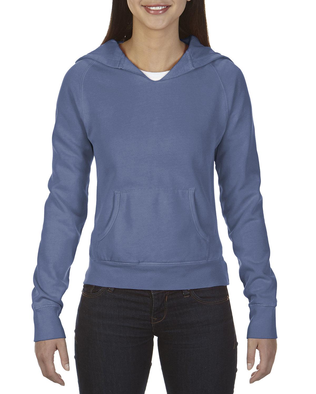 Comfort Colors Ladies' Hooded Sweatshirt BLUE JEAN