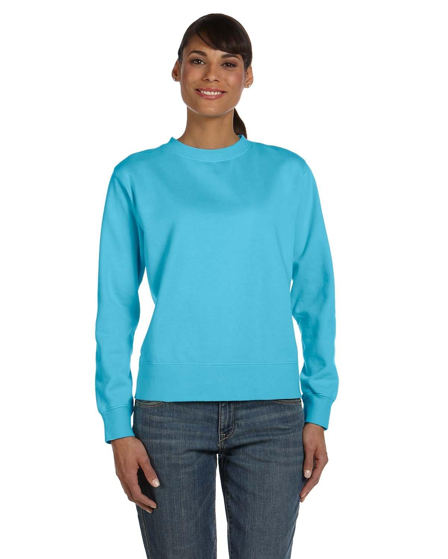 Comfort Colors Ladies' Crewneck Sweatshirt LAGOON BLUE