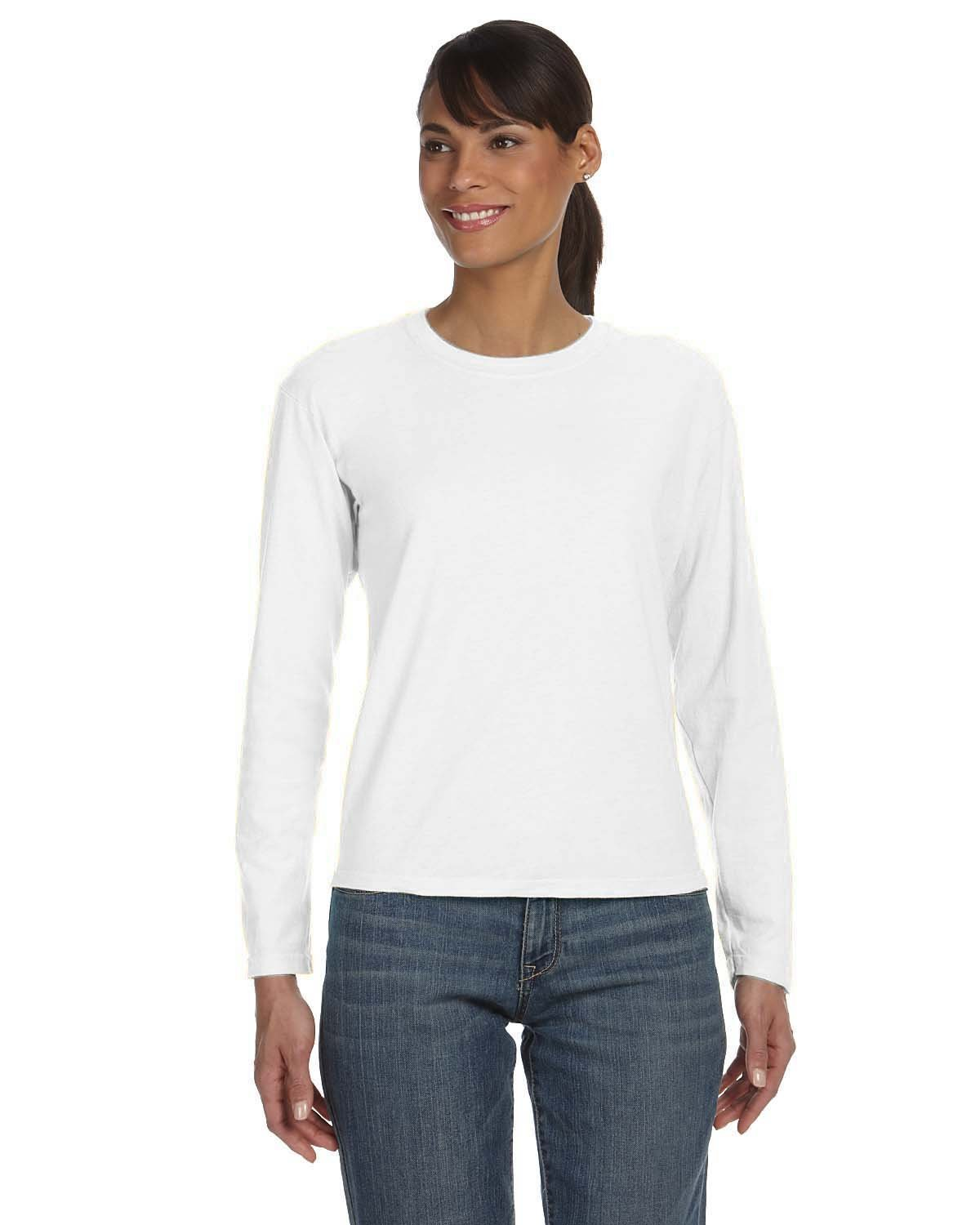 Comfort Colors Ladies' Midweight RS Long-Sleeve T-Shirt WHITE