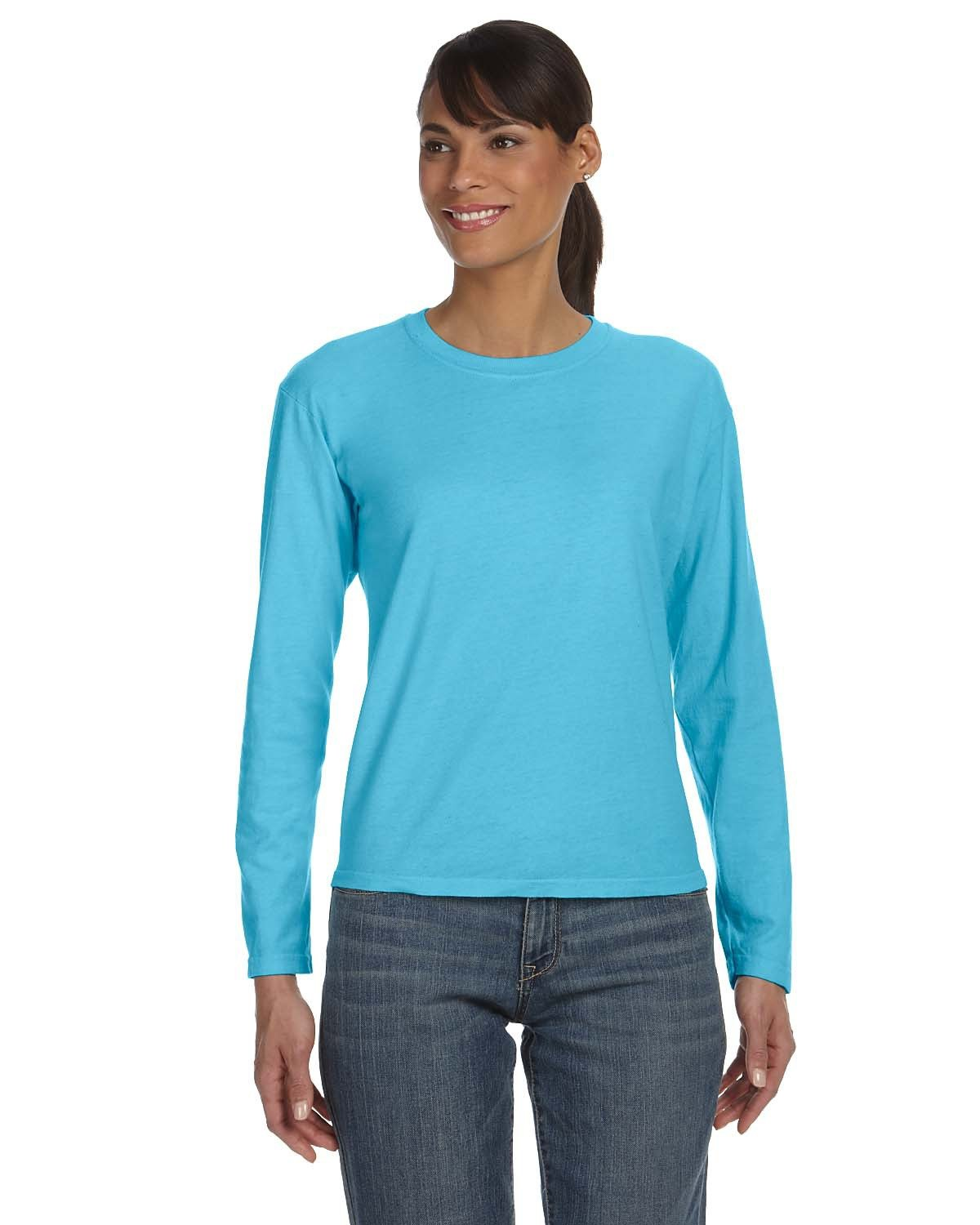 Comfort Colors Ladies' Midweight RS Long-Sleeve T-Shirt LAGOON BLUE