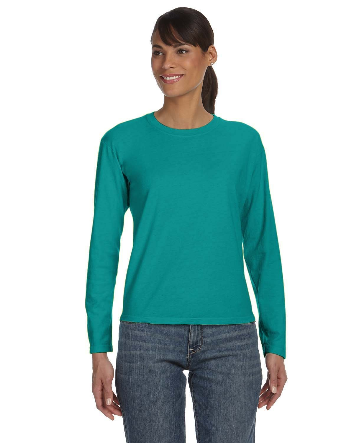 Comfort Colors Ladies' Midweight RS Long-Sleeve T-Shirt SEAFOAM