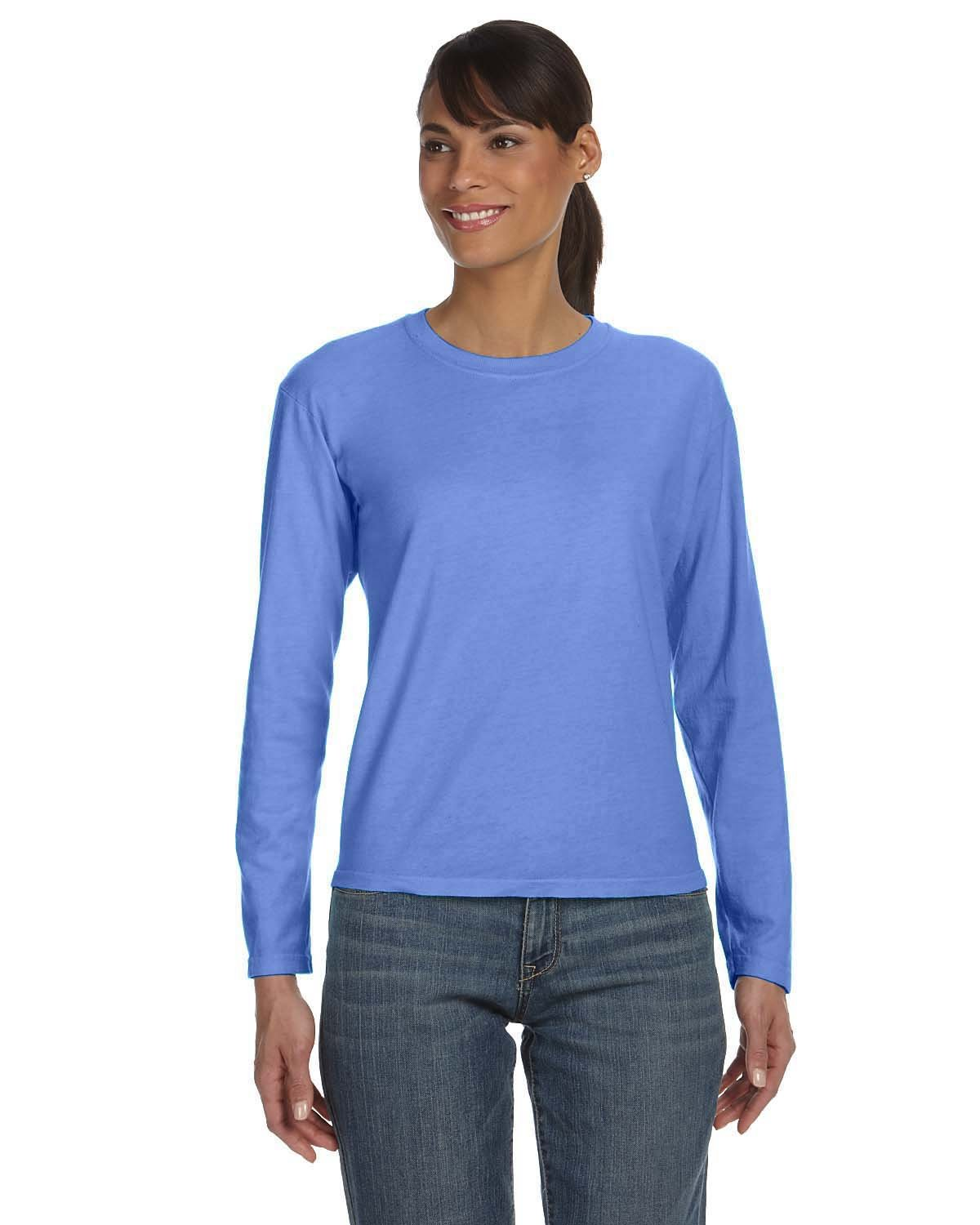 Comfort Colors Ladies' Midweight RS Long-Sleeve T-Shirt FLO BLUE