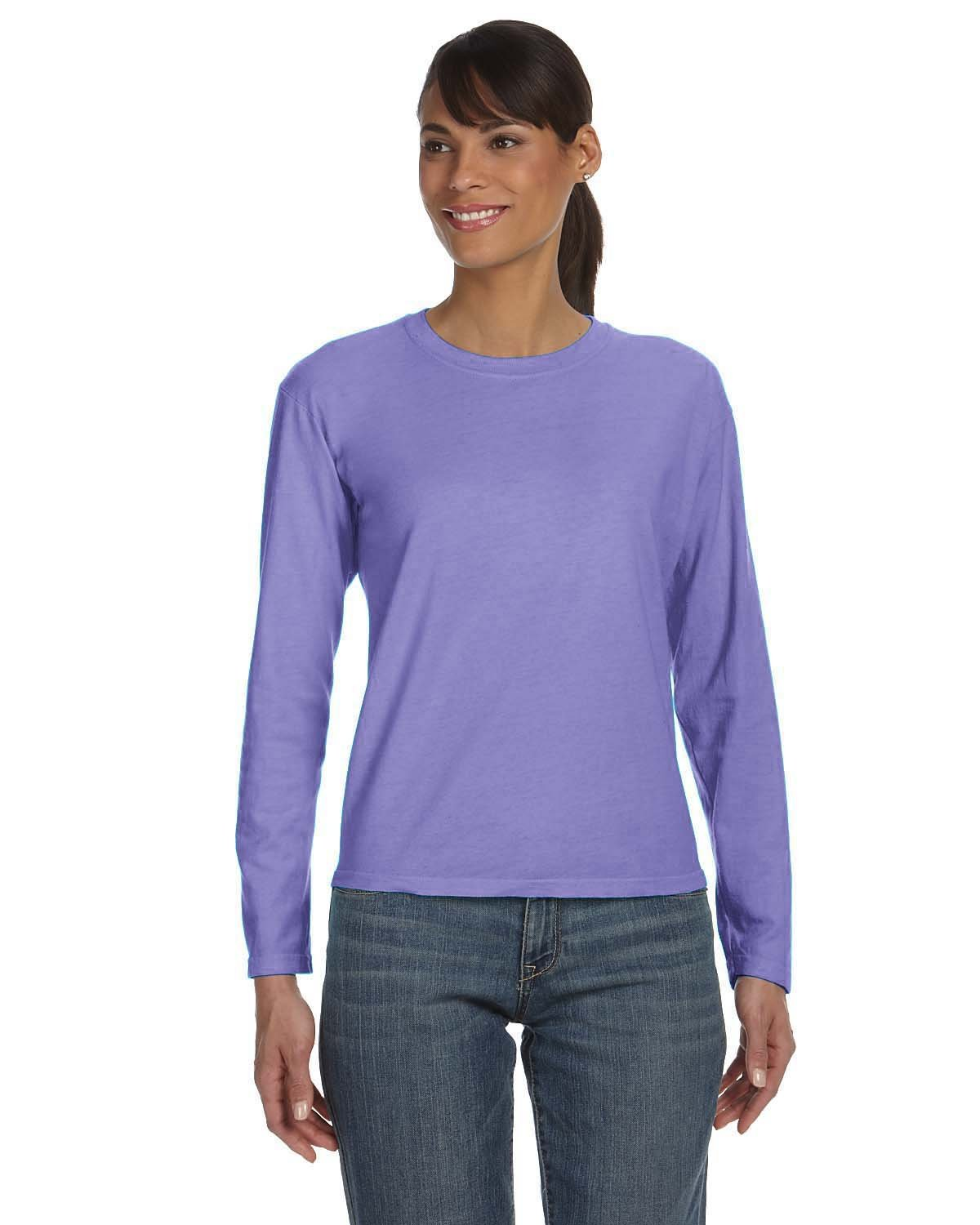 Comfort Colors Ladies' Midweight RS Long-Sleeve T-Shirt VIOLET