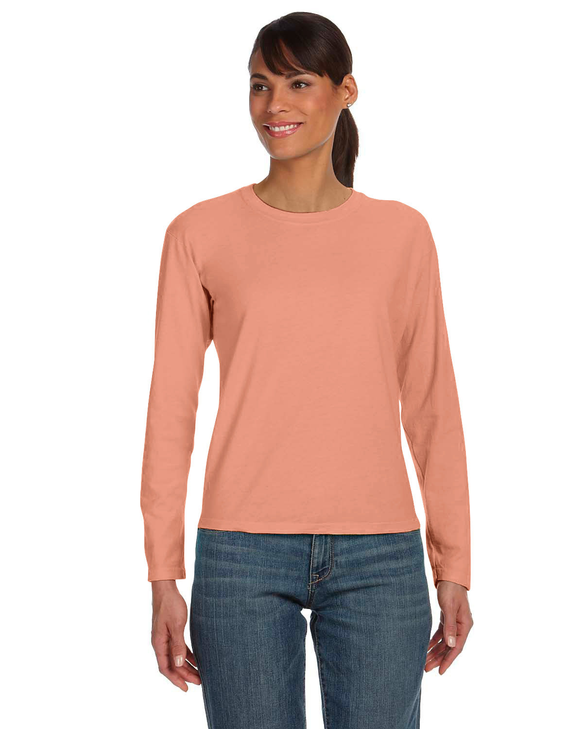 Comfort Colors Ladies' Midweight RS Long-Sleeve T-Shirt TERRACOTA