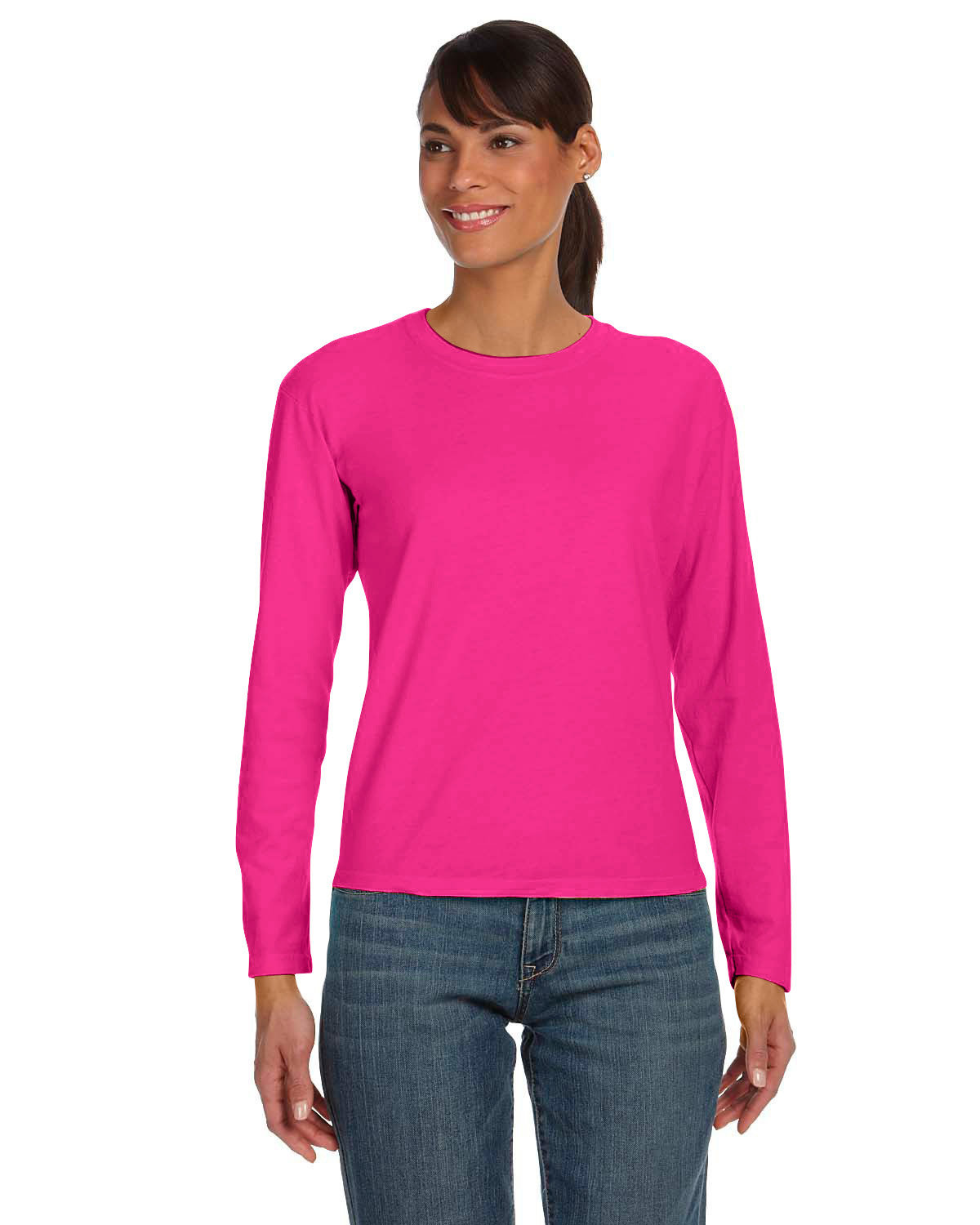 Comfort Colors Ladies' Midweight RS Long-Sleeve T-Shirt HELICONIA