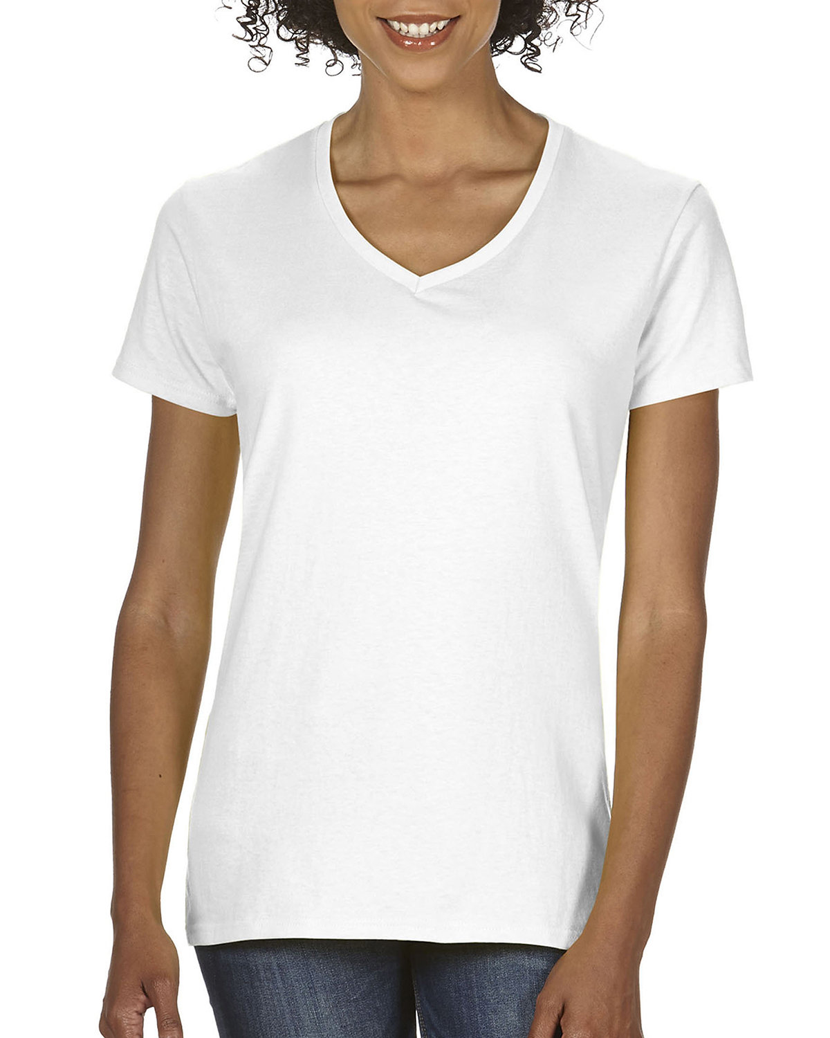 Comfort Colors Ladies' Midweight V-Neck T-Shirt WHITE