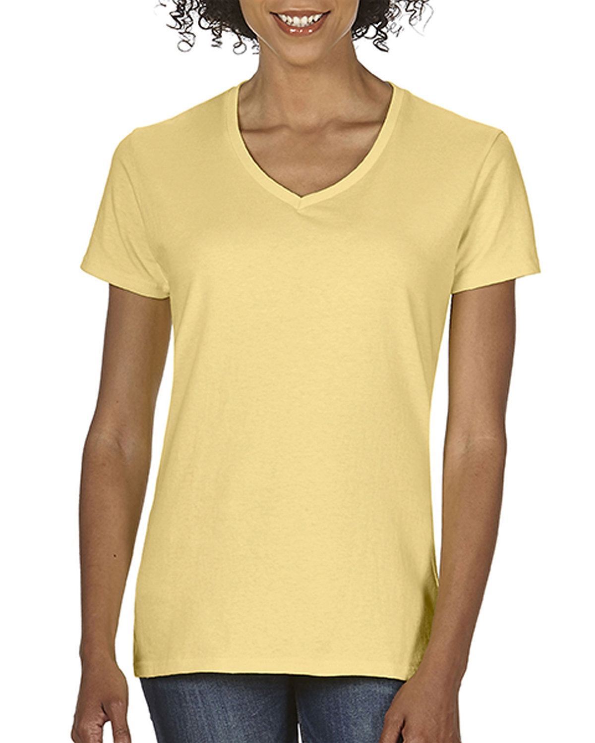Comfort Colors Ladies' Midweight V-Neck T-Shirt BUTTER