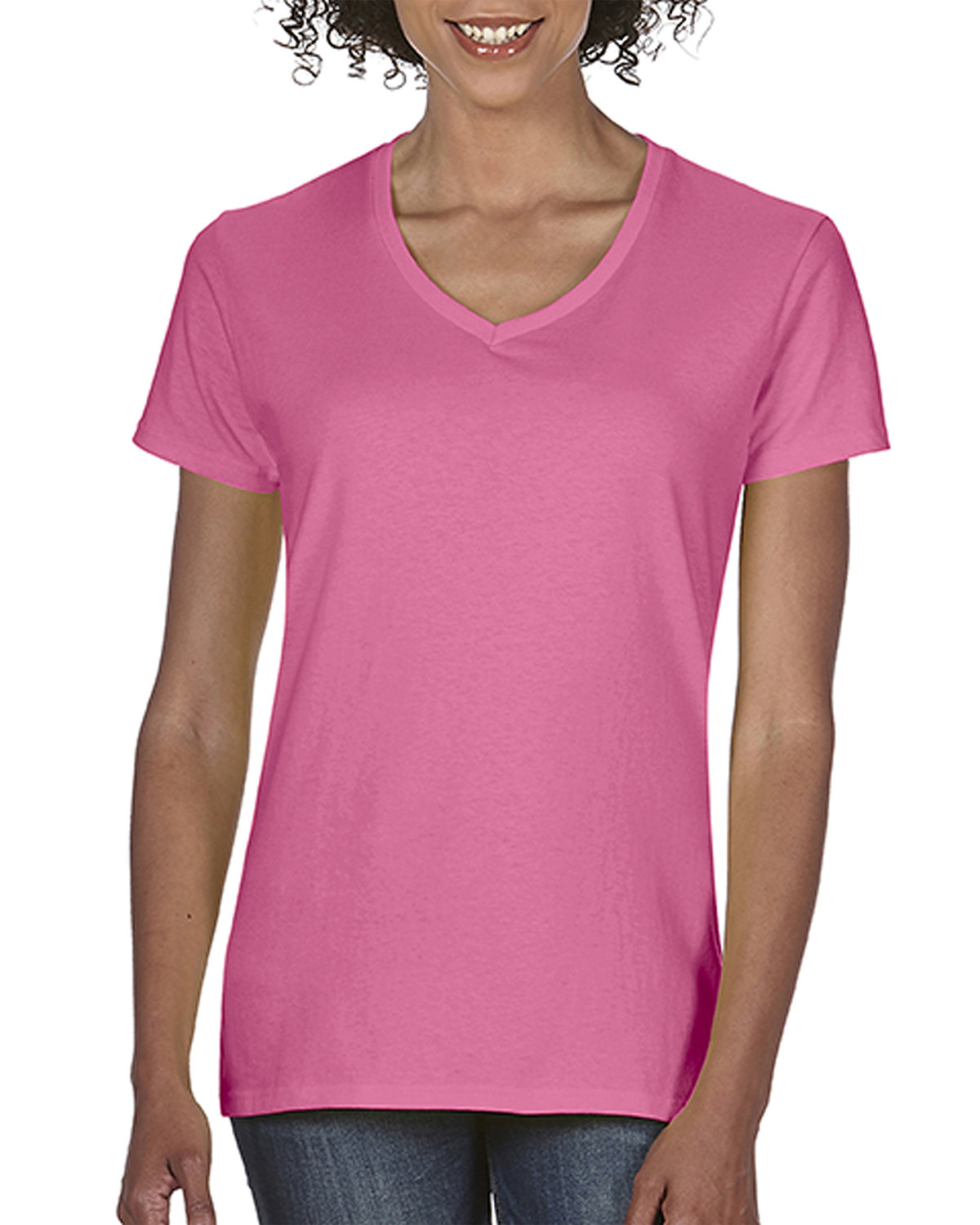 Comfort Colors Ladies' Midweight V-Neck T-Shirt CRUNCHBERRY