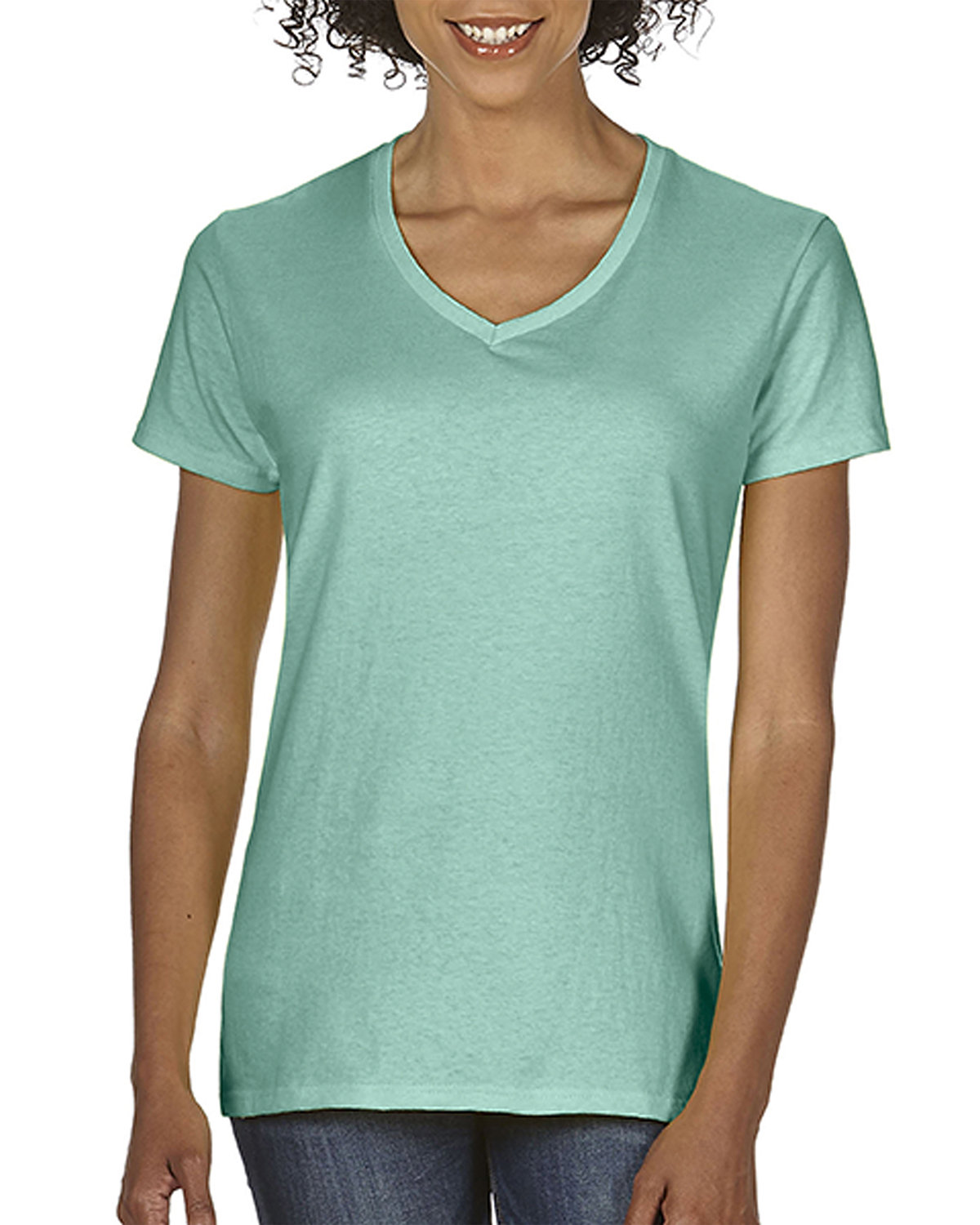 Comfort Colors Ladies'  Midweight RS V-Neck T-Shirt SEAFOAM
