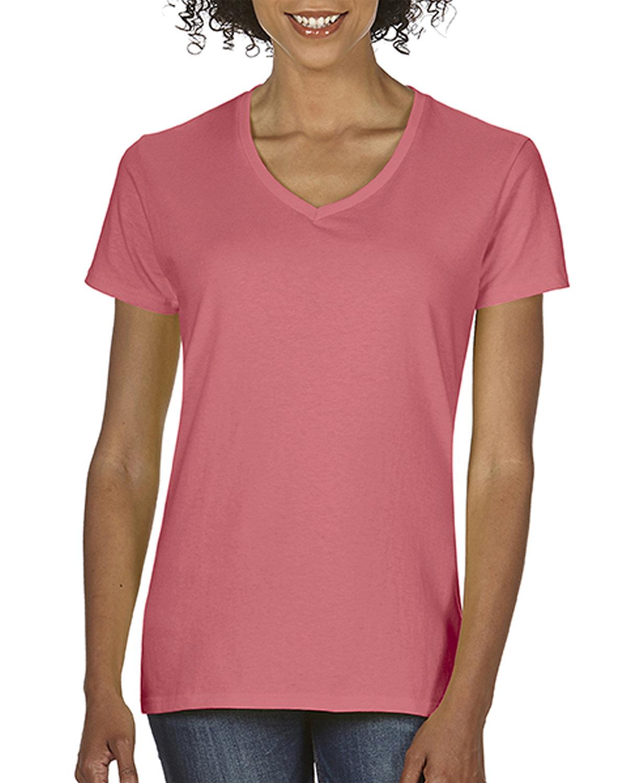 Comfort Colors Ladies' Midweight V-Neck T-Shirt WATERMELON