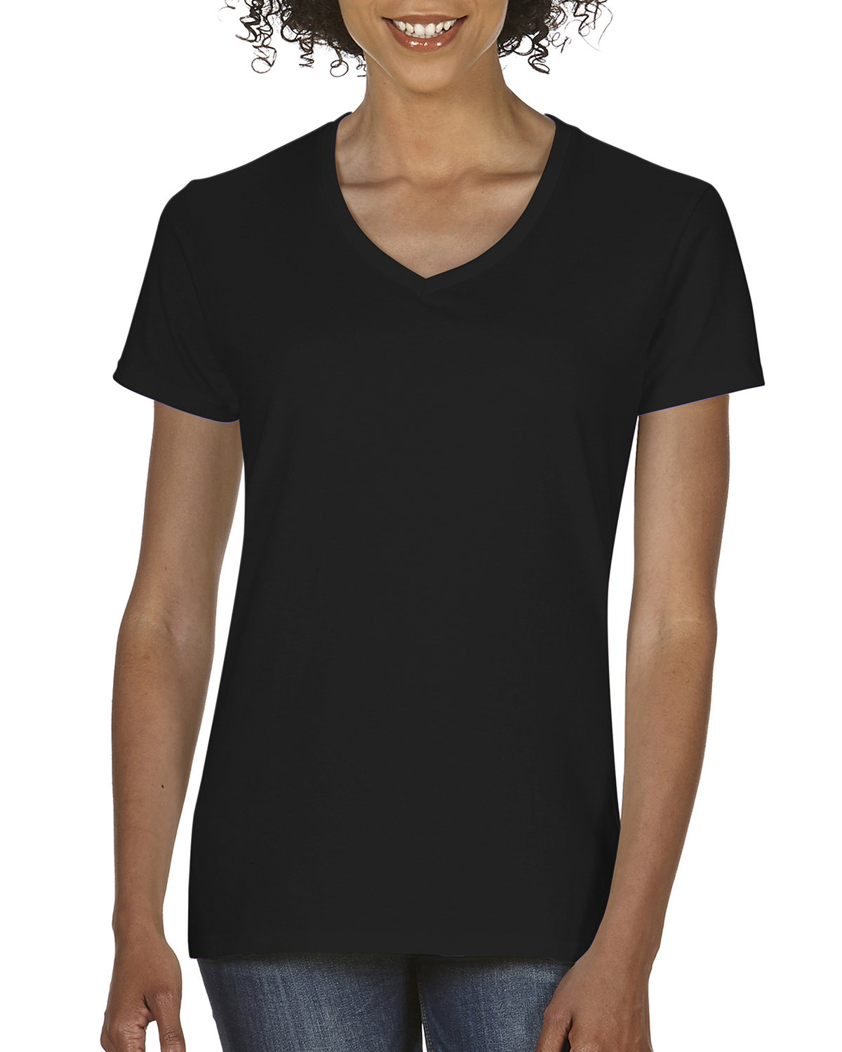 Comfort Colors Ladies'  Midweight RS V-Neck T-Shirt BLACK