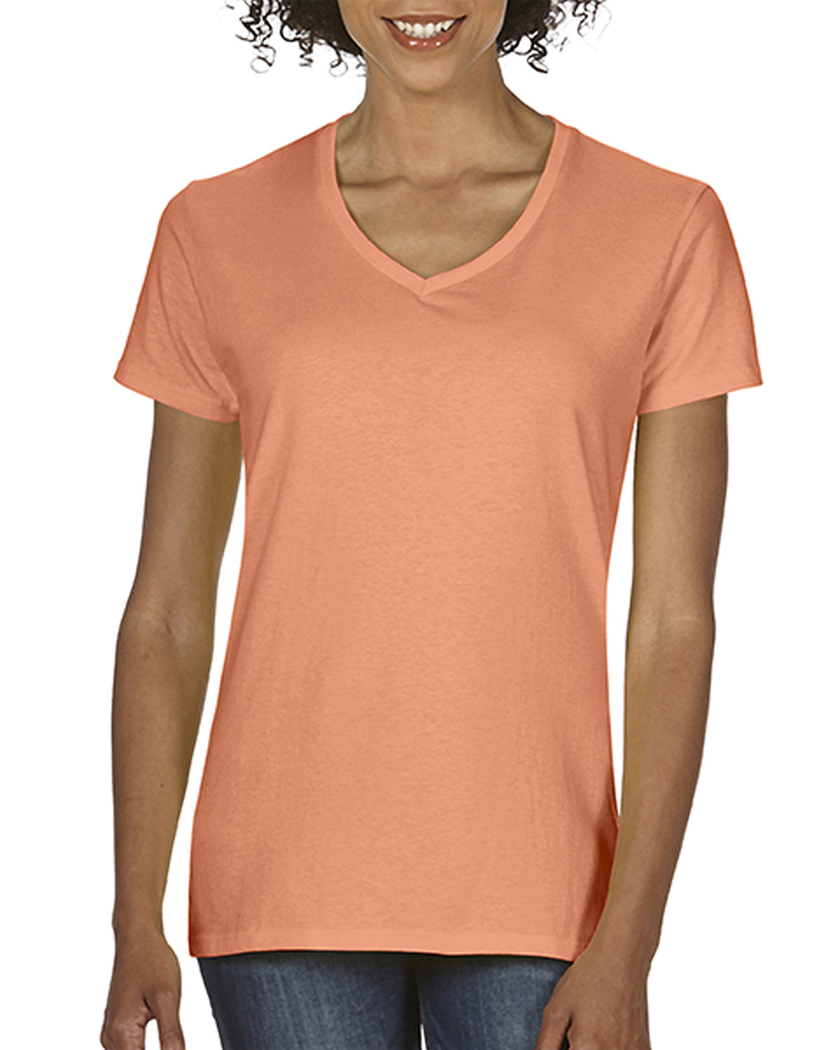 Comfort Colors Ladies'  Midweight RS V-Neck T-Shirt MELON