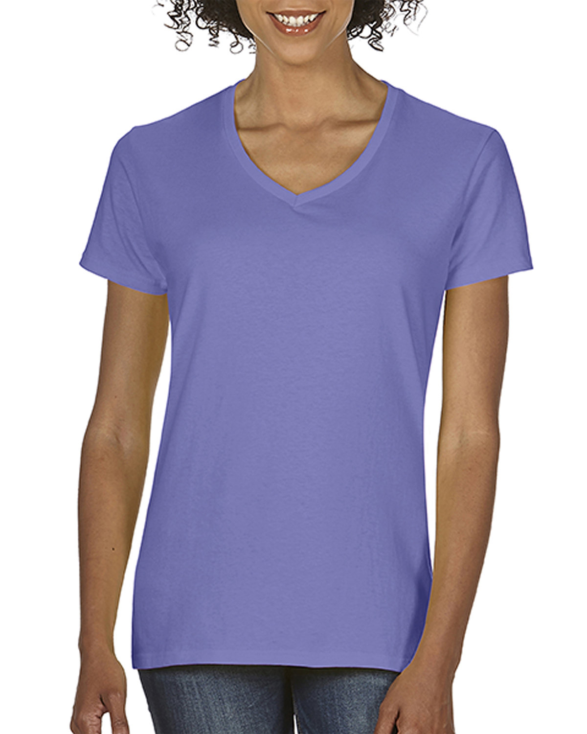 Comfort Colors Ladies'  Midweight RS V-Neck T-Shirt VIOLET