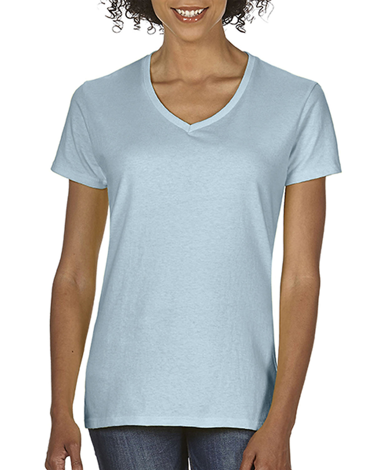 Comfort Colors Ladies' Midweight V-Neck T-Shirt CHAMBRAY