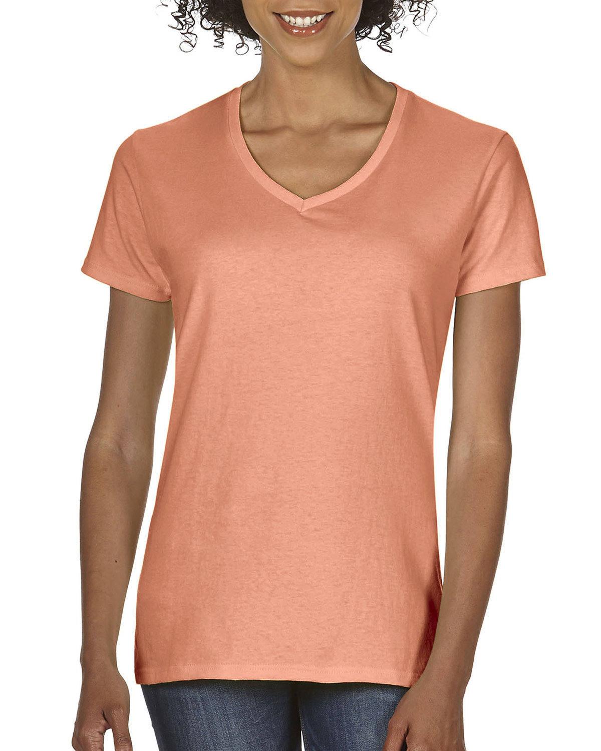 Comfort Colors Ladies'  Midweight RS V-Neck T-Shirt TERRACOTA