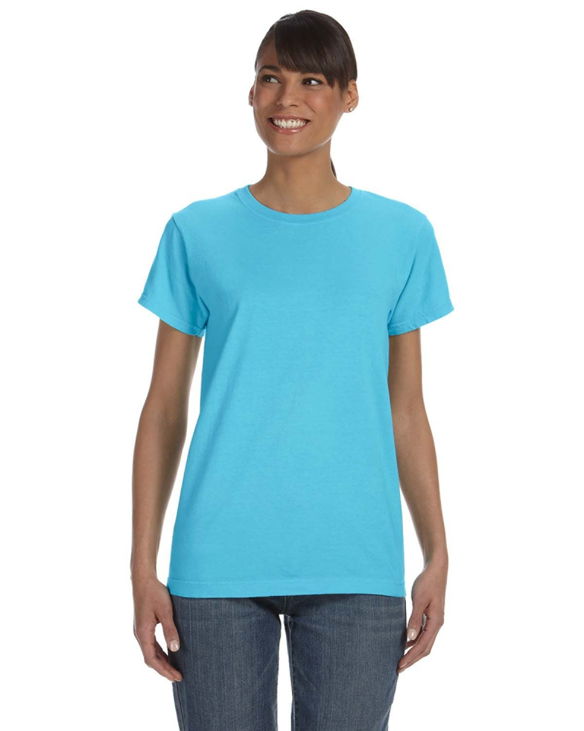 Comfort Colors Ladies' Midweight RS T-Shirt LAGOON BLUE