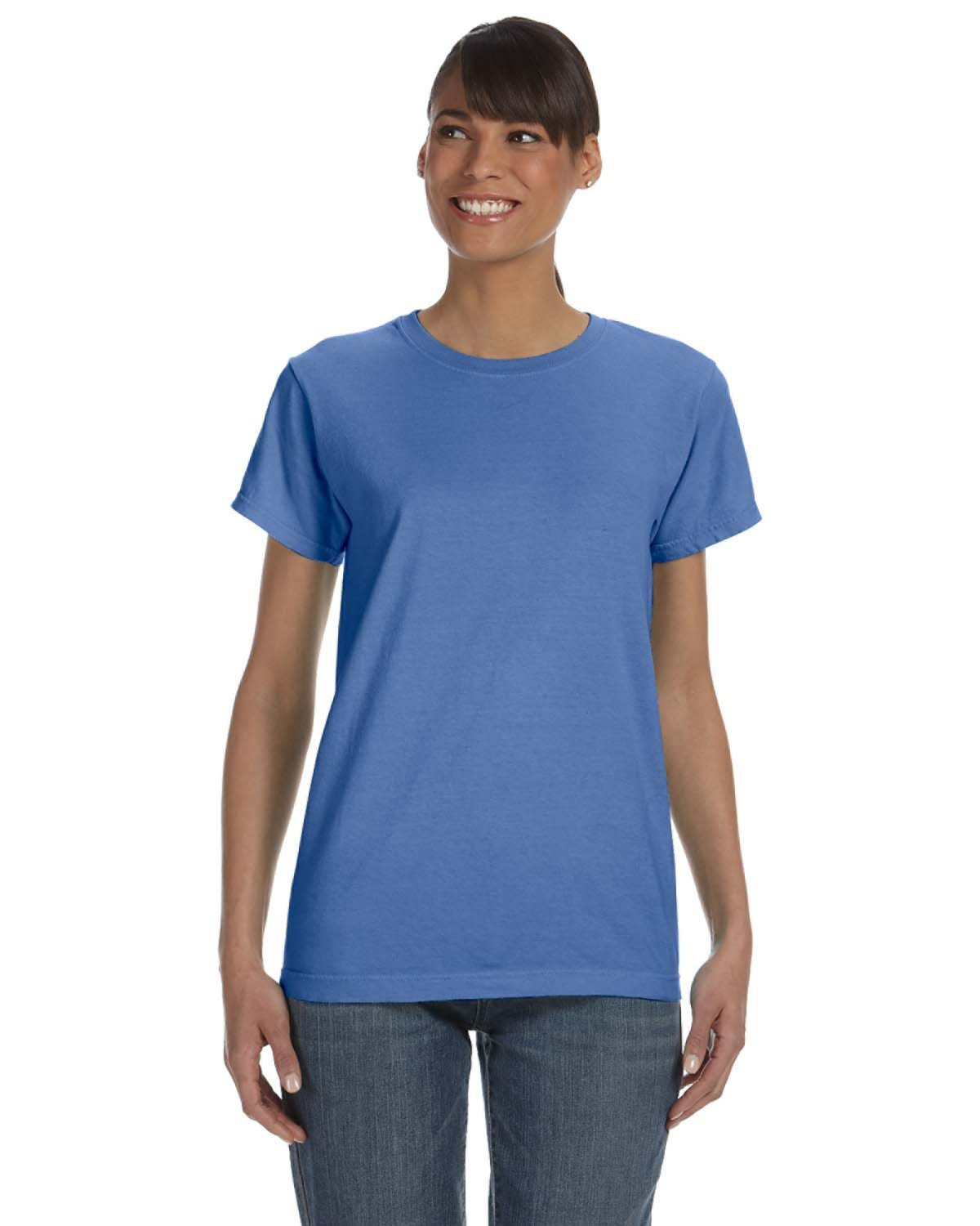 Comfort Colors Ladies' Midweight RS T-Shirt FLO BLUE