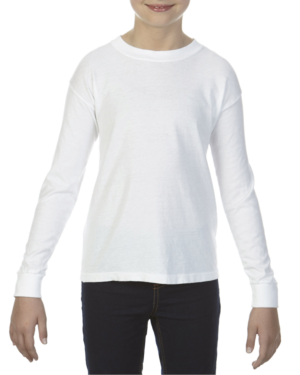 Comfort Colors Youth Garment-Dyed Long-Sleeve T-Shirt WHITE