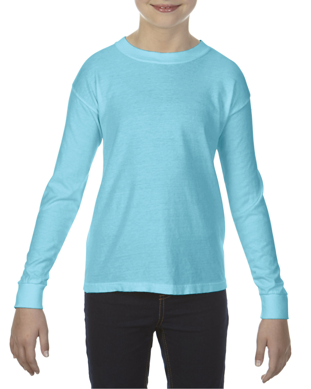 Comfort Colors Youth Garment-Dyed Long-Sleeve T-Shirt LAGOON BLUE