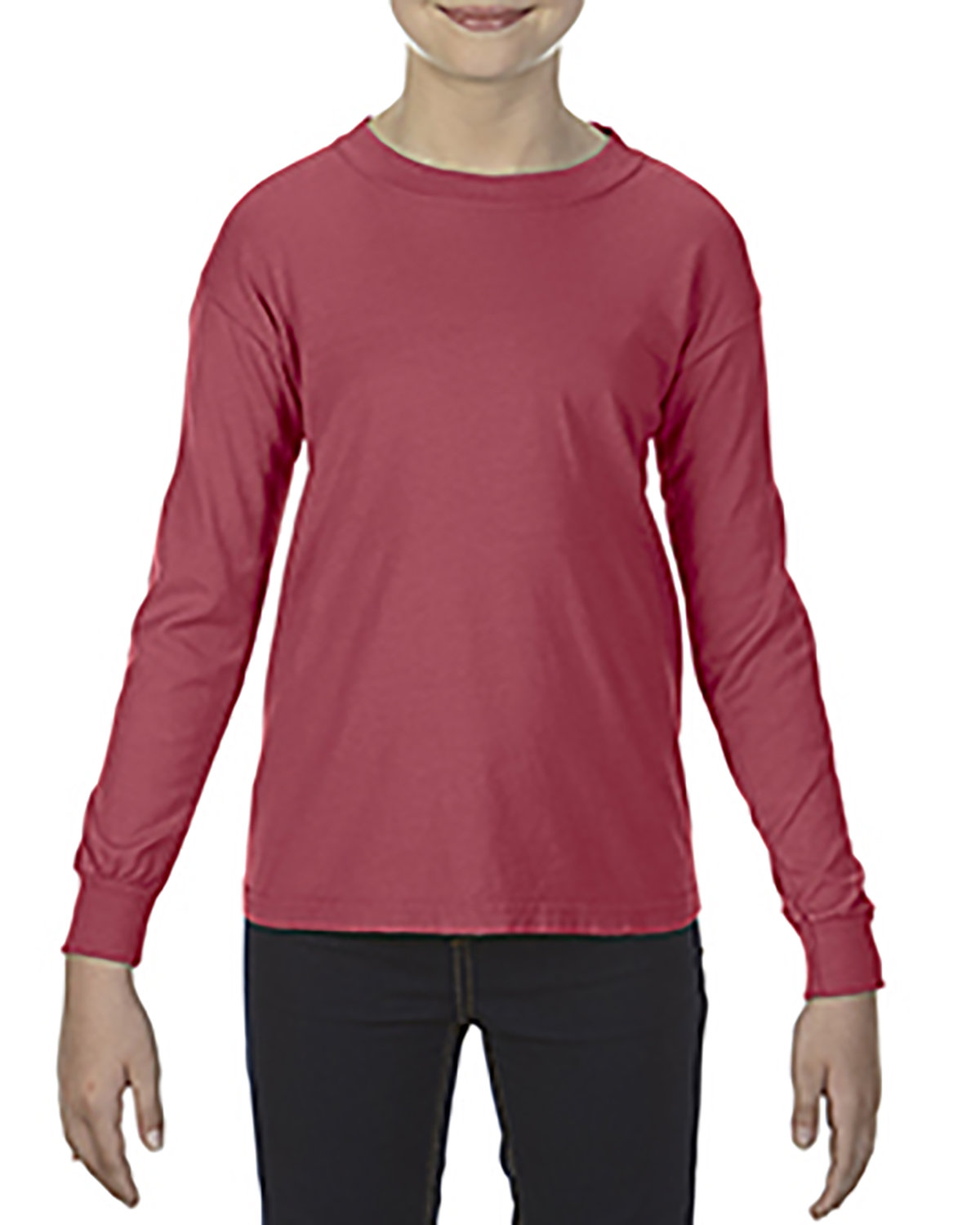 Comfort Colors Youth Garment-Dyed Long-Sleeve T-Shirt CRIMSON