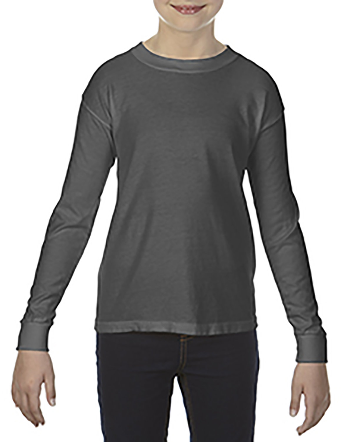 Comfort Colors Youth Garment-Dyed Long-Sleeve T-Shirt PEPPER