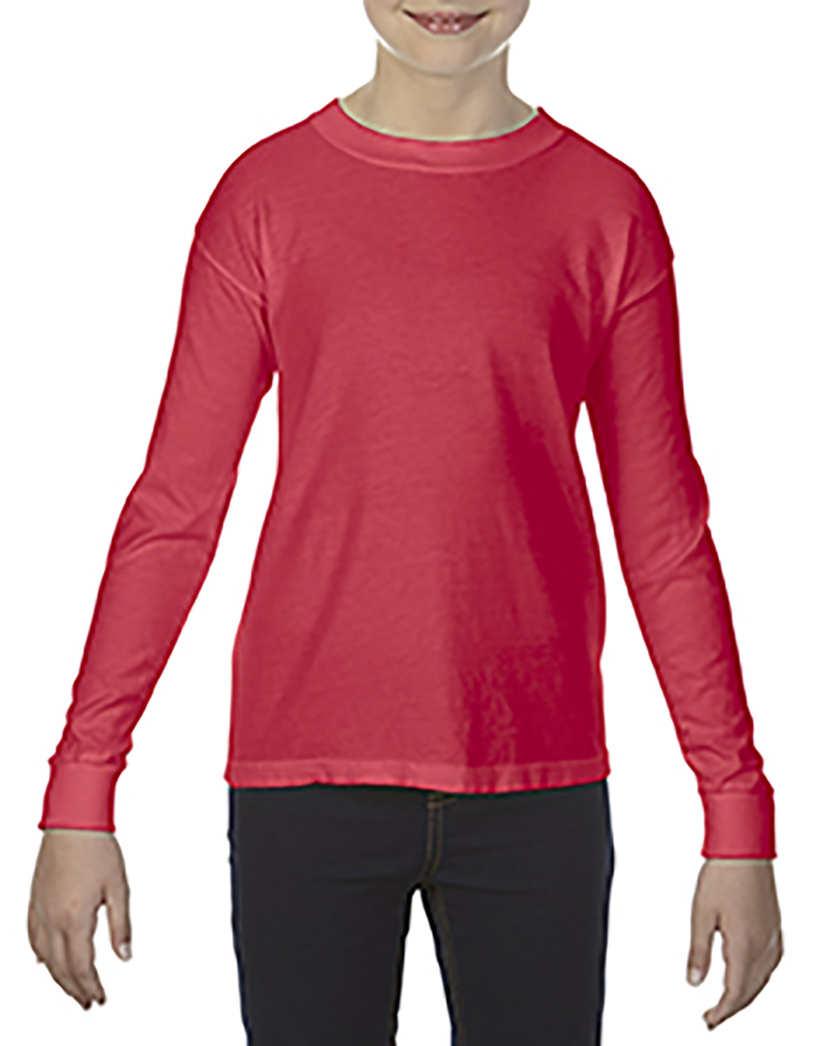 Comfort Colors Youth Garment-Dyed Long-Sleeve T-Shirt PAPRIKA