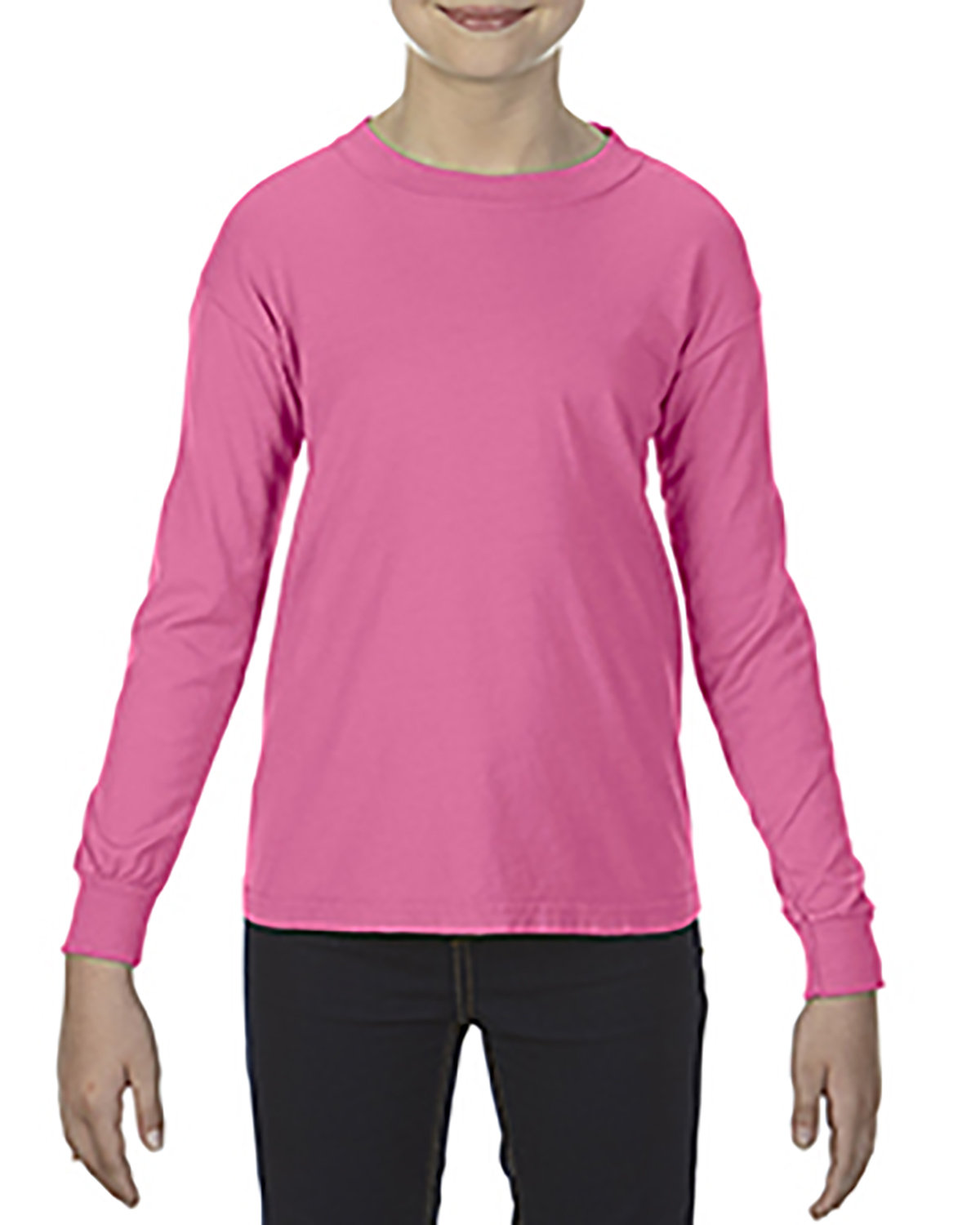 Comfort Colors Youth Garment-Dyed Long-Sleeve T-Shirt CRUNCHBERRY