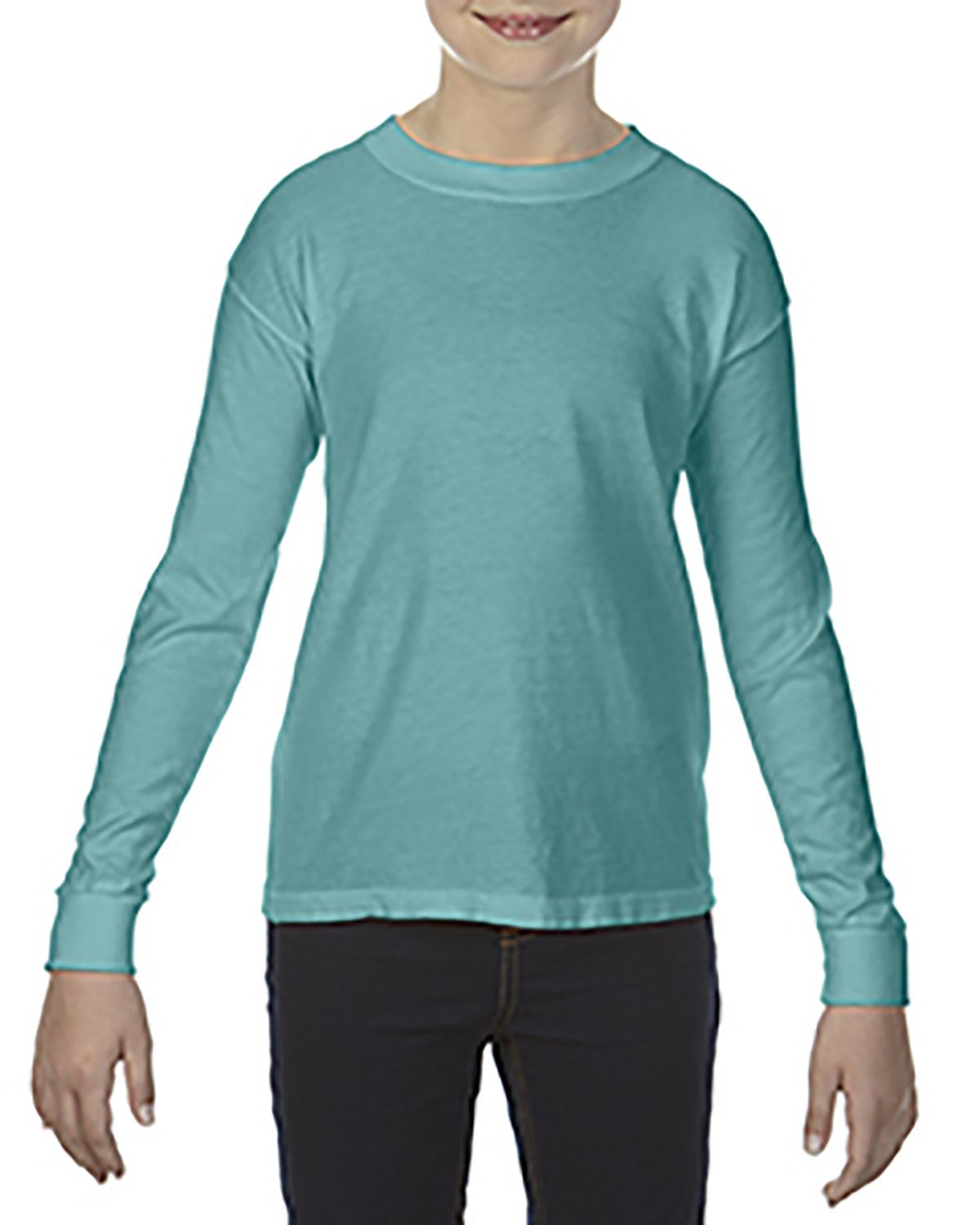 Comfort Colors Youth Garment-Dyed Long-Sleeve T-Shirt SEAFOAM