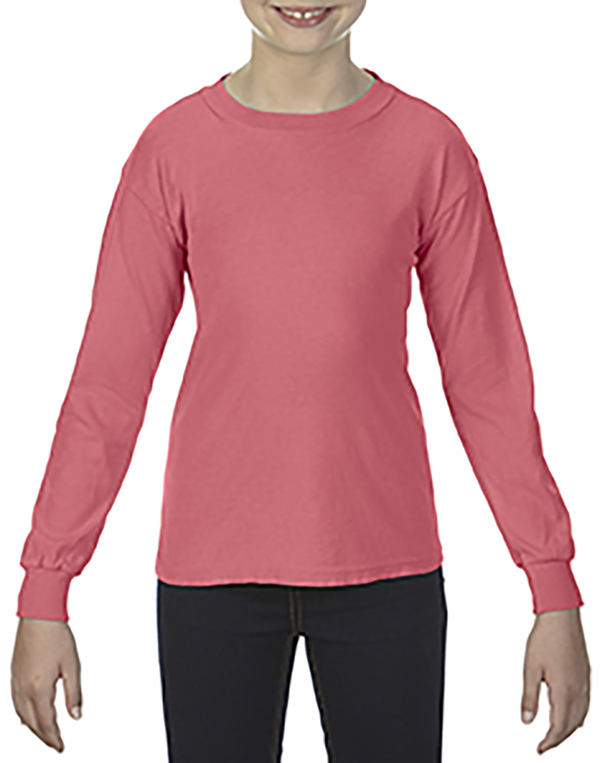 Comfort Colors Youth Garment-Dyed Long-Sleeve T-Shirt WATERMELON