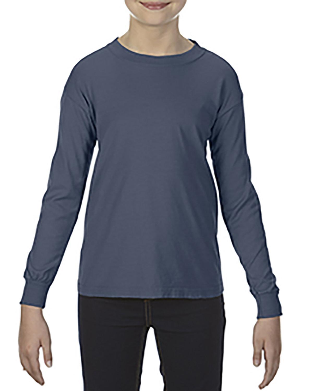 Comfort Colors Youth Garment-Dyed Long-Sleeve T-Shirt DENIM