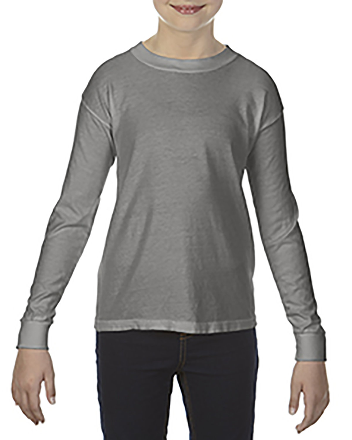 Comfort Colors Youth Garment-Dyed Long-Sleeve T-Shirt GREY
