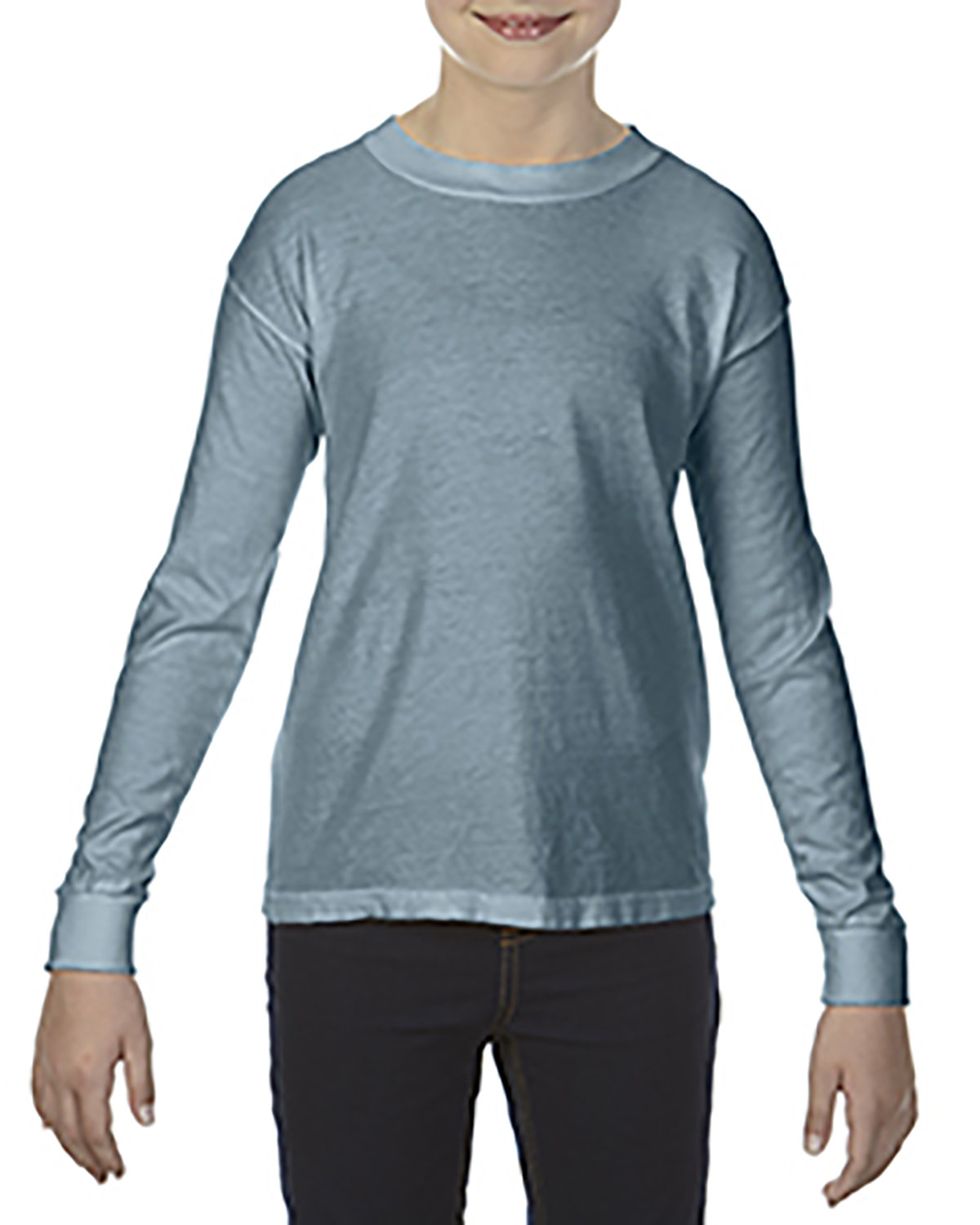 Comfort Colors Youth Garment-Dyed Long-Sleeve T-Shirt ICE BLUE