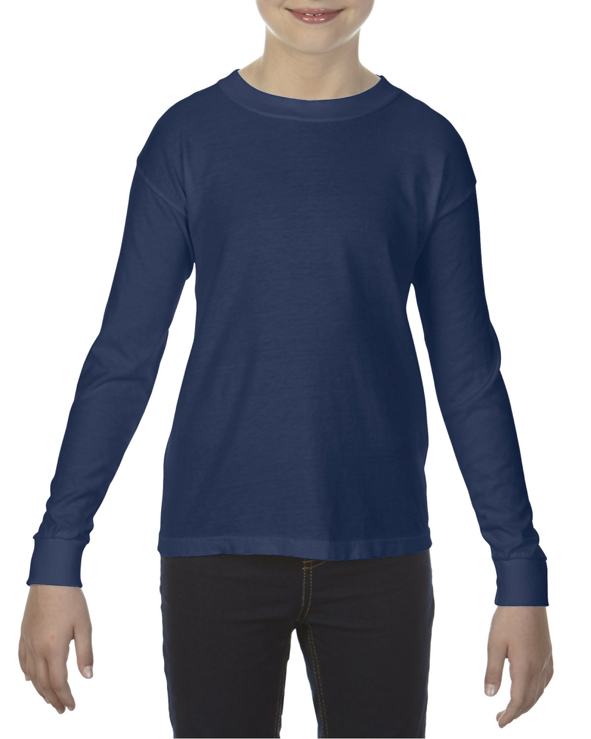 Comfort Colors Youth Garment-Dyed Long-Sleeve T-Shirt TRUE NAVY
