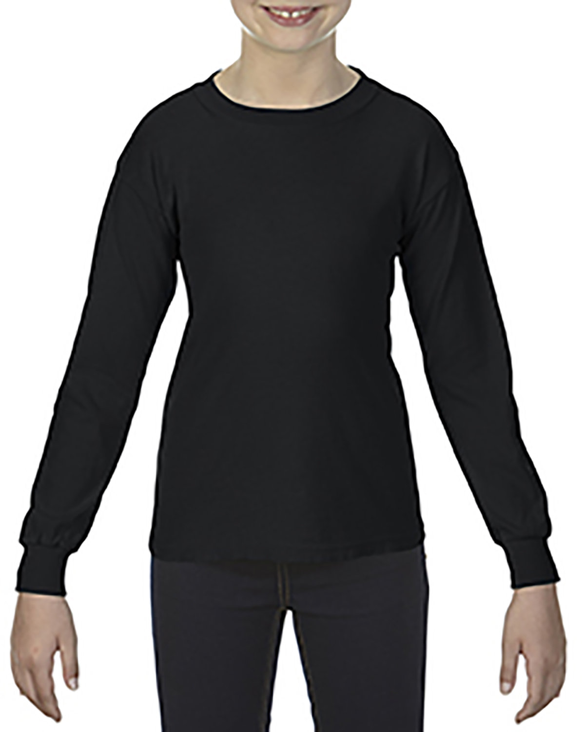 Comfort Colors Youth Garment-Dyed Long-Sleeve T-Shirt BLACK