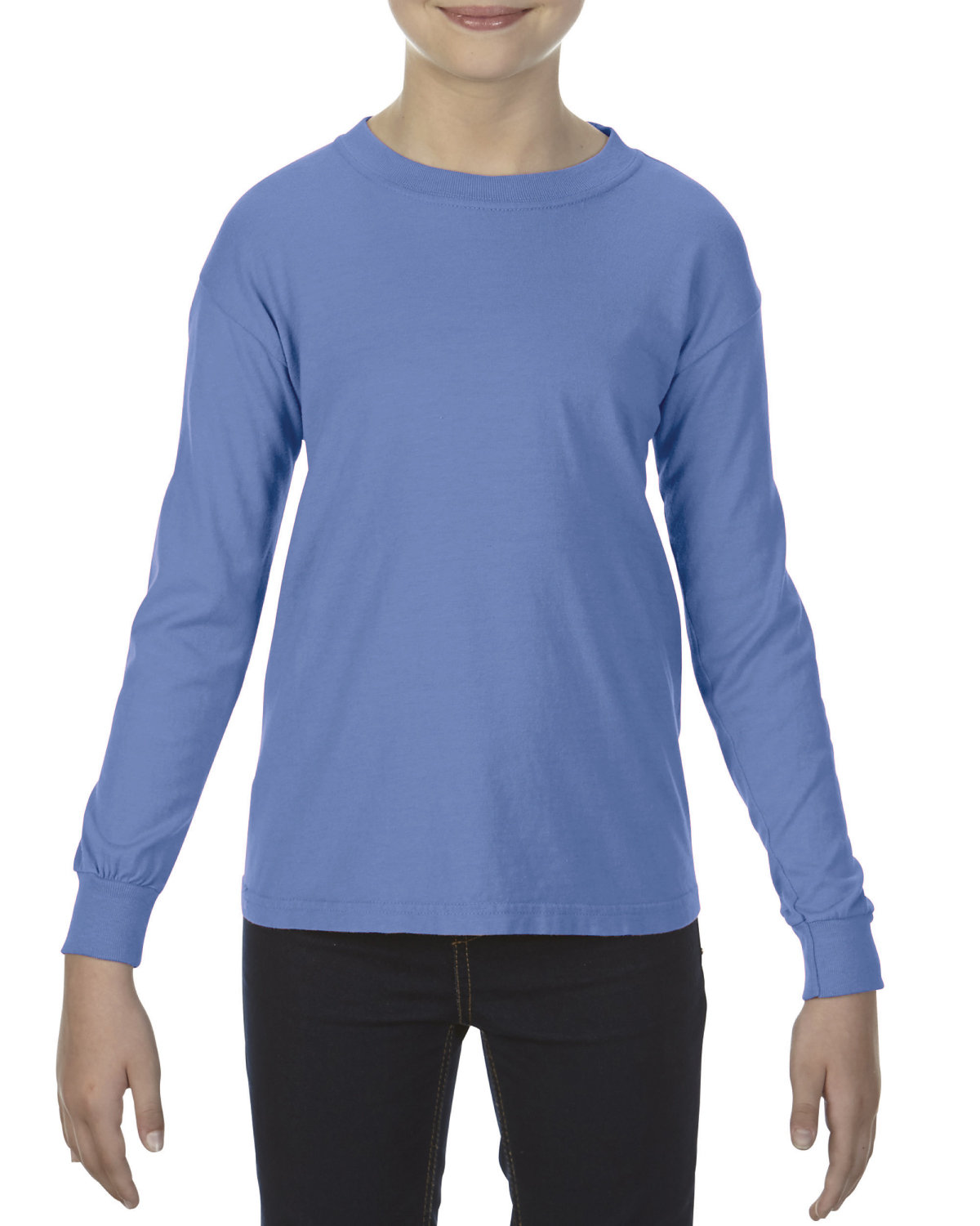 Comfort Colors Youth Garment-Dyed Long-Sleeve T-Shirt FLO BLUE