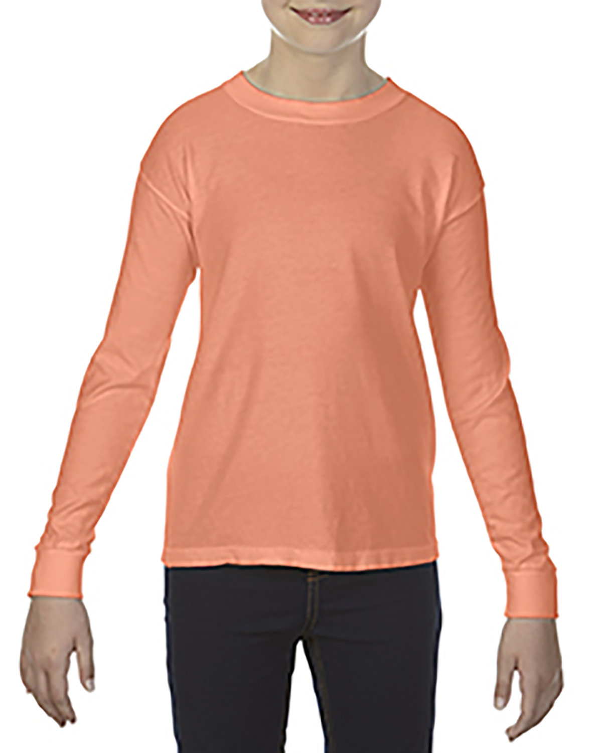 Comfort Colors Youth Garment-Dyed Long-Sleeve T-Shirt MELON