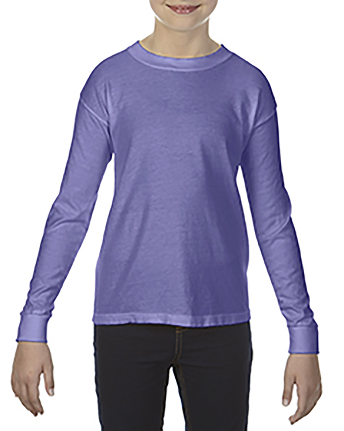 Comfort Colors Youth Garment-Dyed Long-Sleeve T-Shirt VIOLET