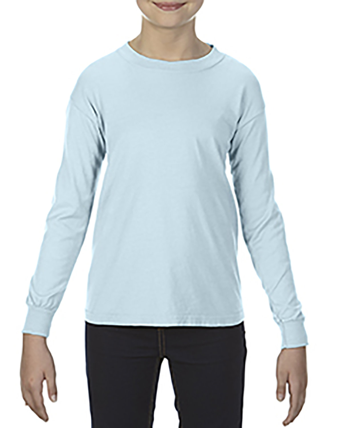 Comfort Colors Youth Garment-Dyed Long-Sleeve T-Shirt CHAMBRAY