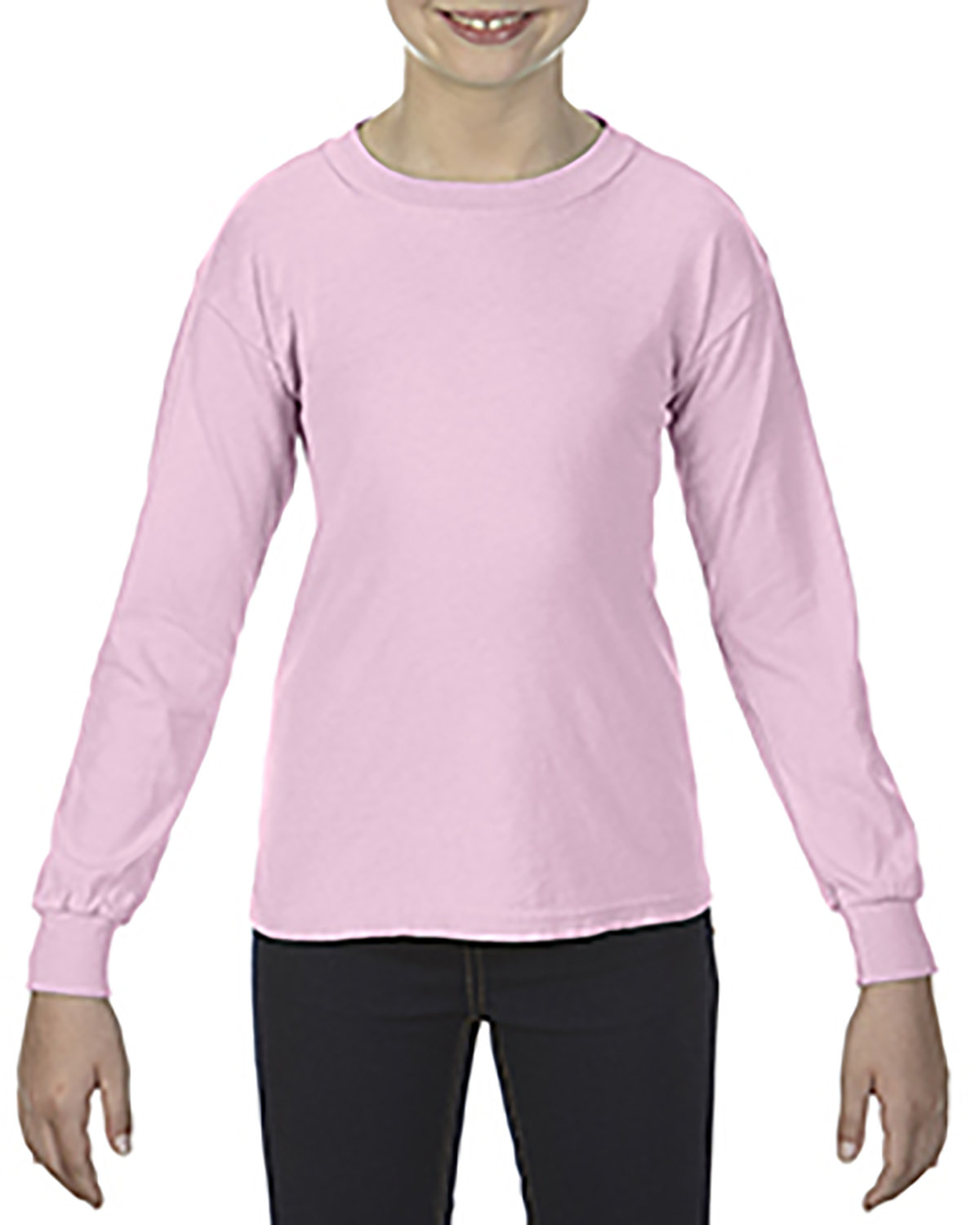 Comfort Colors Youth Garment-Dyed Long-Sleeve T-Shirt BLOSSOM
