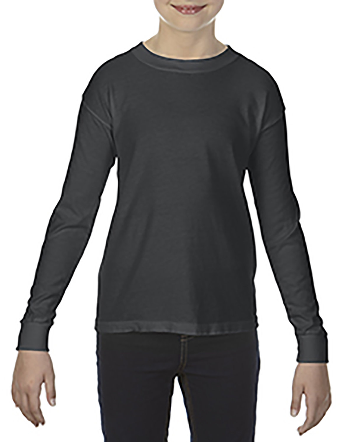 Comfort Colors Youth Garment-Dyed Long-Sleeve T-Shirt GRAPHITE