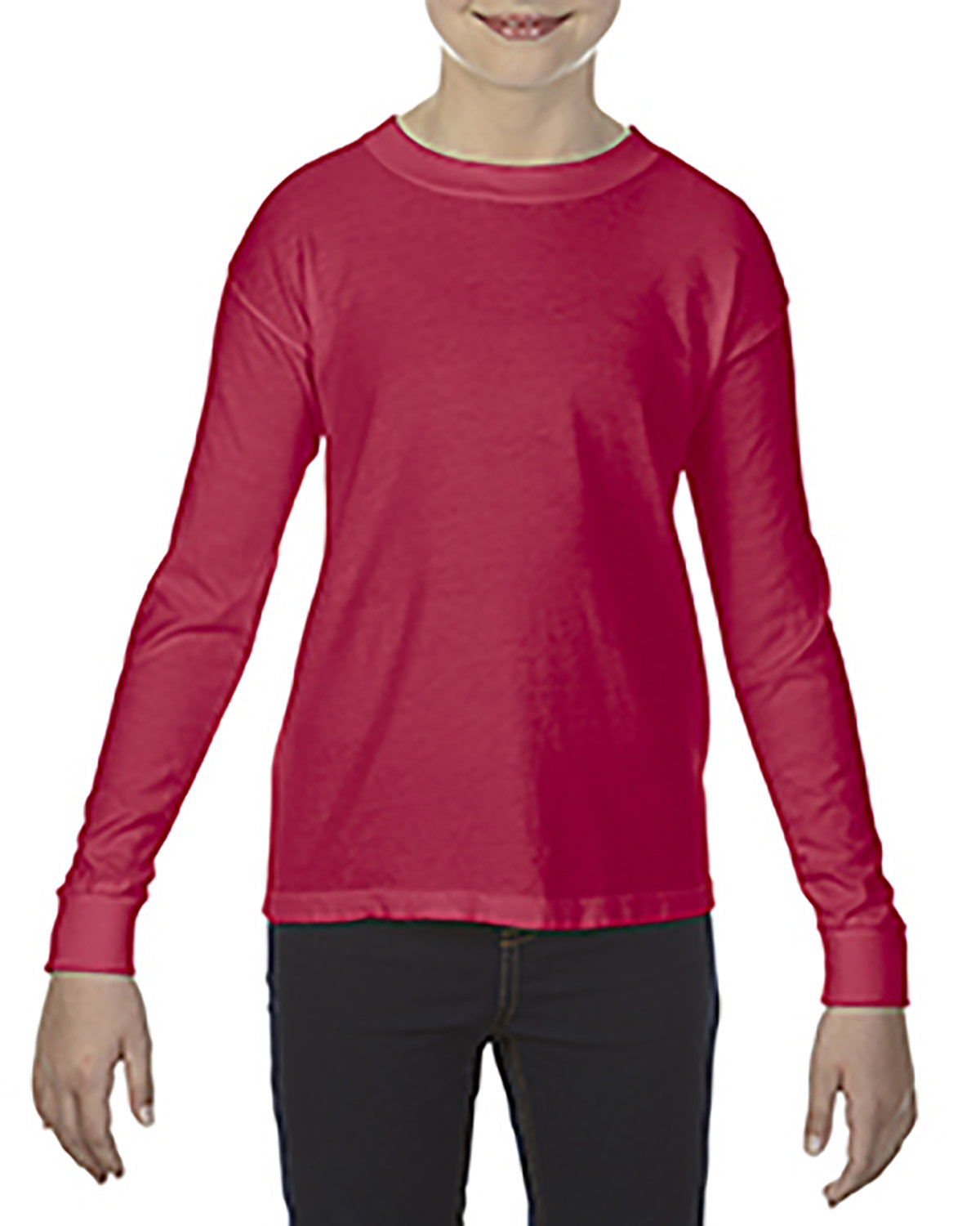 Comfort Colors Youth Garment-Dyed Long-Sleeve T-Shirt RED