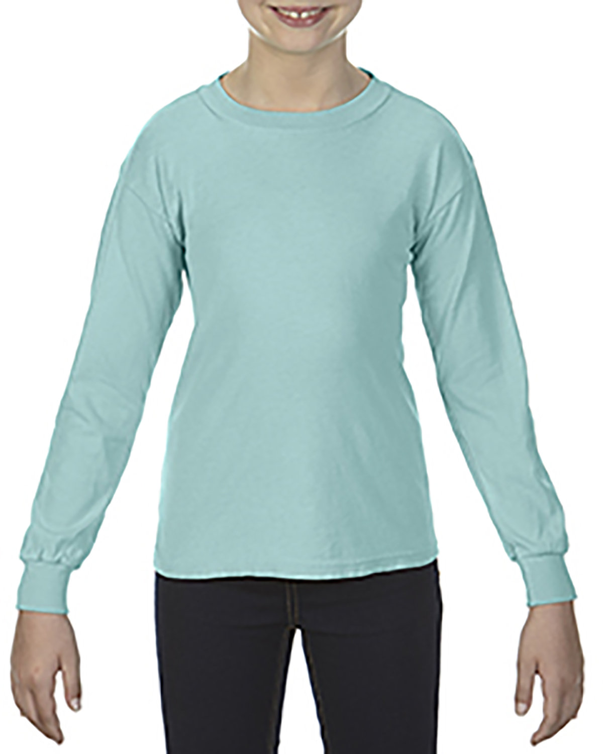 Comfort Colors Youth Garment-Dyed Long-Sleeve T-Shirt CHALKY MINT